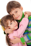 Happy smiling kids hugging Royalty Free Stock Photos