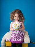 Happy Smiling Laughing Child: Girl with Curly Hair Royalty Free Stock Photos