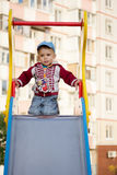 Happy smiling little boy on the playground Royalty Free Stock Photography