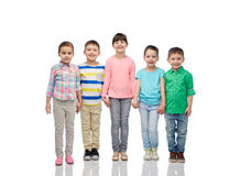 Happy smiling little children holding hands Royalty Free Stock Image