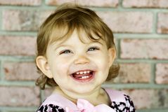 Happy Smiling Little Girl Stock Image