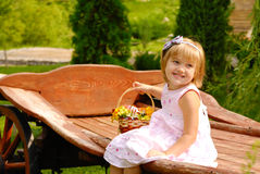 Happy smiling little girl Royalty Free Stock Photos
