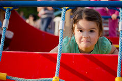 Happy smiling little girl on playground Royalty Free Stock Photography