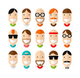 Happy smiling male faces set Royalty Free Stock Image