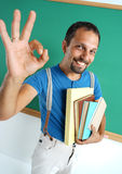 Happy smiling man showing okay gesture Royalty Free Stock Photo