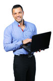 Happy Smiling Man With Notebook Royalty Free Stock Photography