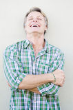 Happy smiling mature man in forties. Stock Image
