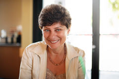 Happy smiling mature woman royalty free stock photography