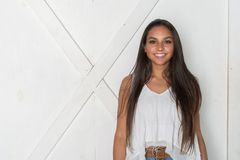 Minority Teen Model royalty free stock image