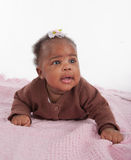 Happy Smiling 3-month Old Baby Girl Portrait Royalty Free Stock Photography