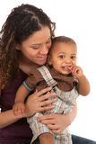 Happy Smiling Mother and Baby Boy Royalty Free Stock Images