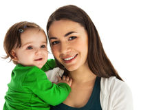 Happy smiling mother with baby girl Royalty Free Stock Image