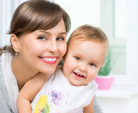 Happy Smiling Mother and Baby Royalty Free Stock Photo