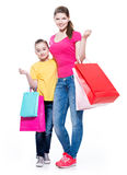 Happy smiling mother and daughter. Stock Image