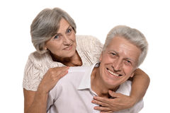 Happy smiling old couple Stock Photo
