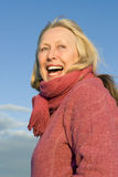 Happy smiling older woman Royalty Free Stock Photography