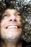 Happy smiling outdoor man royalty free stock photography