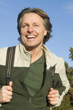 Happy smiling outdoor man Royalty Free Stock Images