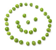 Happy smiling pea face Stock Photos