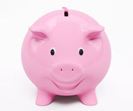 Happy smiling piggy bank 3d render Royalty Free Stock Photos