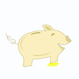 Happy and Smiling Piggy Bank Illustration Royalty Free Stock Image