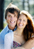 Happy smiling portrait couple Royalty Free Stock Images