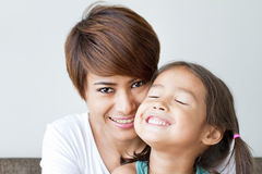 Happy, smiling, positive mother and daughter Stock Photography