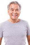Happy, smiling, positive senior asian man Stock Photography