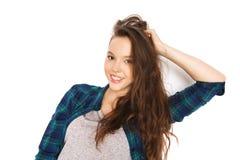 Happy smiling pretty teenage girl Stock Photography