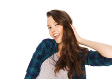 Happy smiling pretty teenage girl Royalty Free Stock Photo