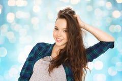 Happy smiling pretty teenage girl Royalty Free Stock Photos