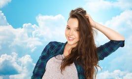 Happy smiling pretty teenage girl Stock Photo