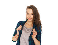 Happy smiling pretty teenage girl Royalty Free Stock Photos