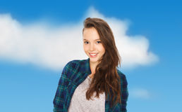 Happy smiling pretty teenage girl Royalty Free Stock Photo