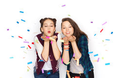 Happy smiling pretty teenage girls having fun Royalty Free Stock Image