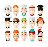 Happy smiling professions character Stock Photography