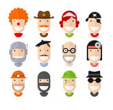 Happy smiling professions character Royalty Free Stock Photos