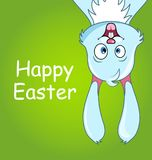Happy Smiling Rabbit for Easter, Cute Comic Bunny, Celebration Card. Illustration Vector royalty free illustration