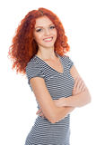 Happy smiling red haired girl Royalty Free Stock Photo
