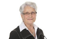 Happy smiling retired senior woman Stock Photo