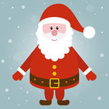 Happy smiling Santa. Smiling santa with winter background Royalty Free Stock Image