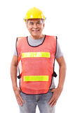 Happy, smiling senior construction worker or engineer Royalty Free Stock Photography