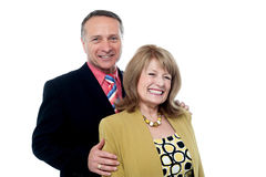 Happy smiling senior couple in love Royalty Free Stock Image