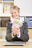 Happy smiling senior woman Stock Photography
