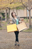 Happy smiling shopping woman Stock Photography