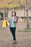 Happy smiling shopping woman Stock Image
