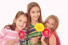 Happy smiling sisters. Group of happy smiling sisters cousins or friends stock image