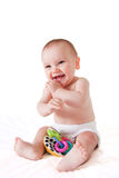 Happy and smiling sitting baby Royalty Free Stock Photo