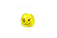 Happy smiling smiley out of the apple. Feelings, attitudes and emotions. Stock Photos