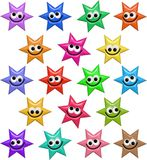 Happy Smiling Star Shapes Royalty Free Stock Photography